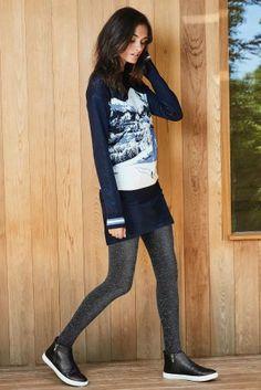 ישראל :Next - קנה סוודר כחול כהה לחג המולד עם תמונת סקי באינטרנט היום ב