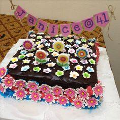 flower feast themed cake