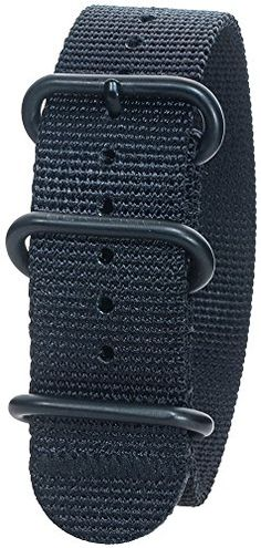 Bertucci DX3 B-95B Black / Black Ion Buckle 22mm Nylon Watch Band * You can find more details by visiting the image link.