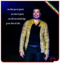 """""""Vieni dimmi che mi ami così come ti amo io, solo con un tuo sguardo io mi elevo al cielo..."""" #MareaitoConTuAmor #EnTodoEstarè #Chayanne #TeAdoroConLaVida #ChayanneEnTodoEstare #ChayanneTargatoItalia #ChayanneItalia #diamante #GranArtista #GranSerHumano #OrgulloBoricua #Immenso #VoglioUnaFotoConChayanne #QuieroUnaFotoConChayanne"""