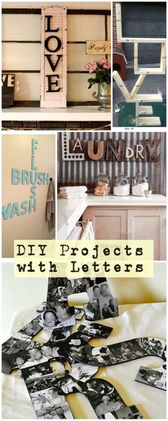 Best Diy Crafts Ideas For Your Home : DIY Projects with Letters Lot's of easy tutorials!
