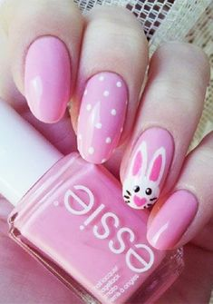 Adorable Easter Nail Art Designs You Must Try Easter nails; Egg And Bunny Nail Art Designs; Cute Nail Art Designs, Easter Nail Designs, Easter Nail Art, Nail Designs Spring, Easter Color Nails, Nails Gelish, Red Nails, Holiday Nails, Christmas Nails