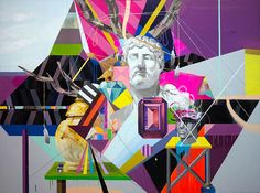 Collages composed with neon, geometric and surrealistic pieces by Clark Goolsby. Knight Rpg, Tim Holtz, Mixed Media Collage, Collage Art, Collage Ideas, Neon Colors, Colours, Collages, Digital Collage