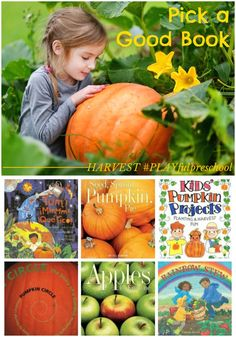 Pick a good book for Preschool Activities Harvest Theme: Preschool Books and Literature. PLUS free lesson plan ideas for MATH, SCIENCE, SOCIAL STUDIES, SENSORY and MORE!