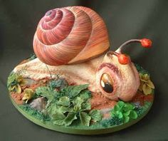 S for Snail: Snail cake by Lindy Smith