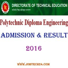 Polytechnic Diploma Engineering Admission 2016 -17 and Result