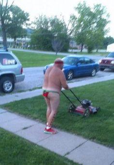Love seeing lawn mower bikini