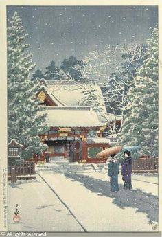 the tights can have snow flakes/ stars? and then the skirt umbrellas...indigo  YOSHIDA Hiroshi, 1876-1950 (Japan)