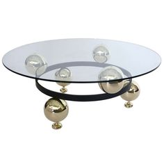 Italian Sputnik Coffee Table | From a unique collection of antique and modern coffee and cocktail tables at https://www.1stdibs.com/furniture/tables/coffee-tables-cocktail-tables/