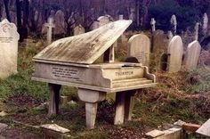 """From Flikr's johnncox via Terry DeLuco. JohnLondon's Highgate Cemetery. Taken in January 1977. Marker for William Henry """"Harry"""" Thornton (1883 to 1918), who was a classical pianist and played music for the troops in World War One. http://flic.kr/p/3V45Gs"""