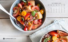 Looking for some inspiration for your screen? Try October's free wallpaper with a bit of bright red recipe inspiration. Red Recipe, Recipe Inspiration, Fruit Salad, October, Bright, Wallpapers, Simple, Recipes, Free