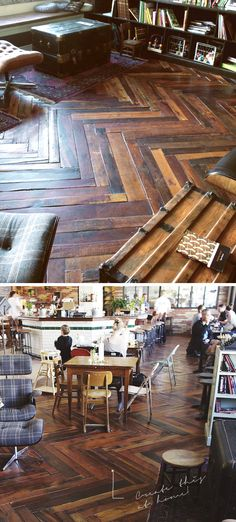 WOOD PALLET FLOOR - I would love to take the wood from my parent's grainery and do antique floors