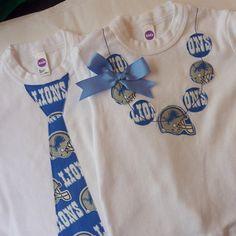 Detroit Lions Tie Onesie / T Shirt