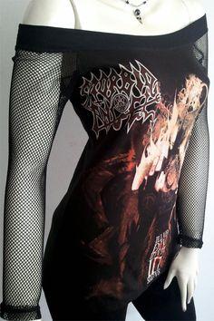 MORBID ANGEL illud Metal DIY Women Top Shirt size S / M by obskura, $49.99