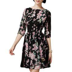 Women's Slim Fit Floral Short Dress