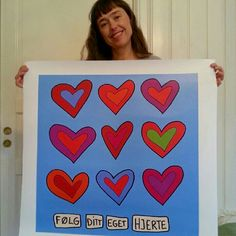Follow your own heart. Naive art.  www.dornberg.no Naive Art, My Arts, Frame, Design, Decor, Decorating, Inredning, Frames