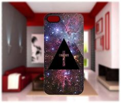 Cross Triangle Hipster Galaxy For iPhone 4/4S iPhone 5 Galaxy S2/S3 | GlobalMarket - Accessories on ArtFire