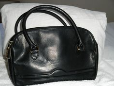 Tignanello black leather handbag