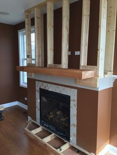 A step-by-step DIY stone veneer installation on a fireplace. In only 4 days, this customer took his fireplace from standard to AMAZING! Stone Veneer Fireplace, Stone Fireplace Designs, Stacked Stone Fireplaces, Build A Fireplace, Basement Fireplace, Home Fireplace, Fireplace Hearth, Fireplace Remodel, Fireplace Inserts