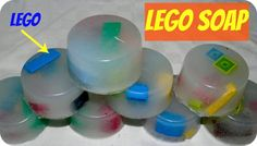 ► Lego Soap. So easy, use a muffin tin as the mold. My boys went crazy for these!