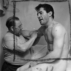 Never-Before-Seen Contact Sheets from Stanley Kubrick's First Movie and His Photographs of Heavyweight Champ Rocky Graziano. Thomas Rocco Barbella (1919 – 1990), better known as Rocky Graziano, was an American boxer. Graziano was considered one of the greatest knockout artists in boxing history, often displaying the capacity to take his opponent out with a single punch. He was ranked 23rd on The Ring magazine list of the greatest punchers of all time.