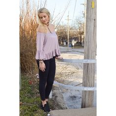 Off the shoulder tops are our favorite! {Soft Jersey Top $20|| Motto Knee Jegging $49.50} Comment below with PayPal to purchase and ship or comment for 24 hour hold #repurposeboutique#shoprepurpose#boutiquelove#style#trendy#musthaves#obsessed#fashion#ashtoncatronphotography#photoshoot#drawntogetherartstudio