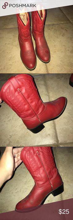 Durango red cowgirl boots Durango red cowgirl boots some wear Durango Shoes Boots
