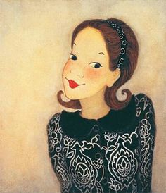 Painting by Yook Simwon Korean Illustration, Illustration Art, Fated To Love You, Shin, Cartoon Painting, Model Face, Korean Art, Happy Art, Gouache Painting