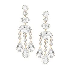 Ivanka Trump Earrings - Small Rose Gold Rock Crystal Chandelier Earrings - $6,000