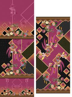 Textile Prints, Textile Design, Textiles, Tropical Fabric, Border Design, Printing On Fabric, Digital Prints, Layouts, Print Design
