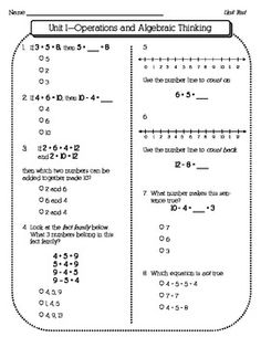 1st Grade Math Common Core Assessments SAMPLE - Plug-n-Plan - TeachersPayTeachers.com