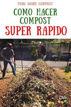 Hoy te voy a dar algunos consejos y buenas prácticas para convertir los desechos de la cocina y los desechos del jardín en compost en una forma más rápida que la habitual #Jardineria #jardín #Huerto #Huertourbano #Cultivar
