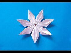 Easy origami modular flower. Ideas for decoration - YouTube