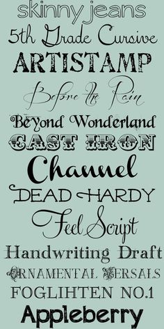 I love cool fonts...can't wait to try these