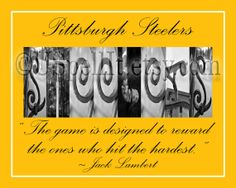 Pittsburgh Steelers Football Alphabet Photography