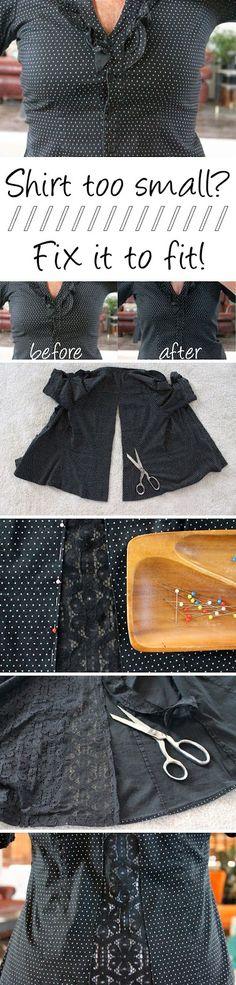 O Lado de Cá: Sua blusa esta pequena? Veja como resolver