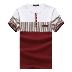 Striped Men T Shirts Short Sleeve Brand Cotton Tops Tees Casual Manly Muscle Fitted T-shirt