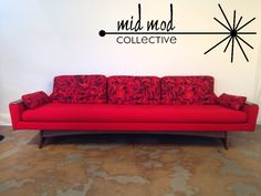 Kroehler American Leisure gondola style sofa. Available now at Mid Mod Collective. Email midmodcollective@gmail.com for more info. SOLD!