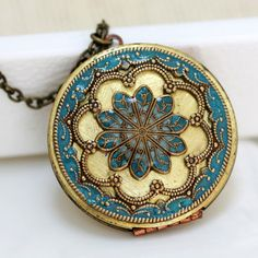 vintage brass filigree turquoise. could imagine this design as the dome in a cathedral.