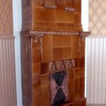 Old tile stove. Restoration, Bookcase, Shelves, Tile, Home Decor, Shelving, Mosaics, Decoration Home, Room Decor