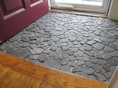 entryway flooring ideas | This has easily marched its way to the top of my favorite-DIY-projects ...