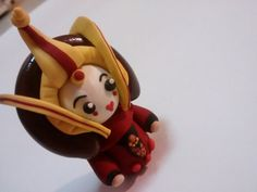 Are you a Star Wars fan? Then this handmade Polymer Clay Queen Padmé Amidala Chibi is perfect for you!! She is so cute and comes ready to