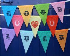 Alphabet bunting - 10 letters. £29.50, via Etsy.