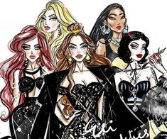 Ariel, Rapunzel, Belle, Pocahontas and Snow White Disney Princess Fashion, Disney Princess Snow White, Disney Style, Disney Love, Disney Magic, Disney Fashion, Fashion Art, Disney Rapunzel, Disney Pixar