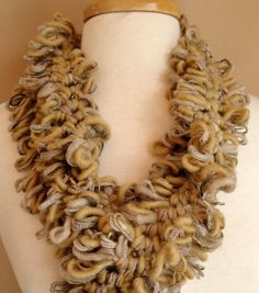 Lions Mane Hairpin Lace Scarf. Hmmmm... I wonder how this would look in LB Bolero. Seems like a perfect match.