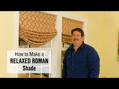 Bring a casual, stylish statement to your windows with relaxed Roman shades. We'll show you how to sew custom shades in this how-to video. House Blinds, Blinds For Windows, White Wooden Blinds, Roman Shade Tutorial, Relaxed Roman Shade, Diy Roman Shades, Make Tutorial, Diy Blinds, Custom Shades