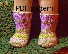 014 Knit socks from the toe up pattern for by Nannaspatterns