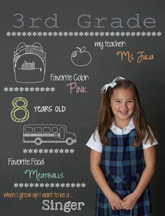 Make back to school pics special by turning them into charming graphics. Photo…