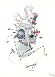 illustrations late 2013 by Monsta, via Behance