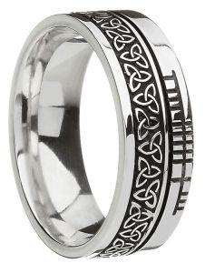 Silver Trinity Knot Faith Ring